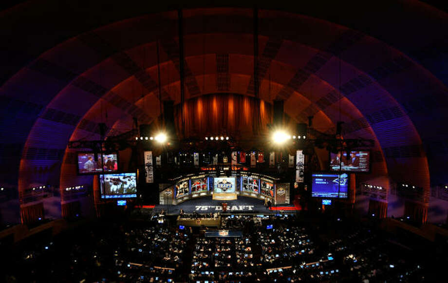 A general view of the stage during the 2010 NFL draft at Radio City Music Hall. Photo: Jeff Zelevansky, Getty Images