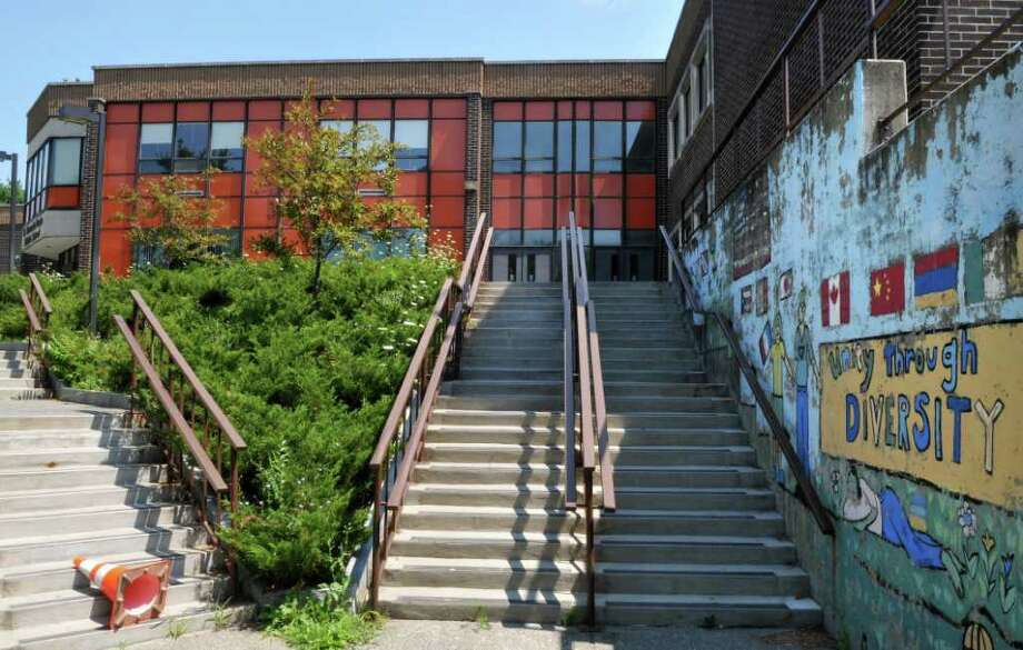 Exterior of Doyle Middle School in Troy Tuesday Aug. 2, 2011.  (John Carl D'Annibale / Times Union) Photo: John Carl D'Annibale / 00014119A