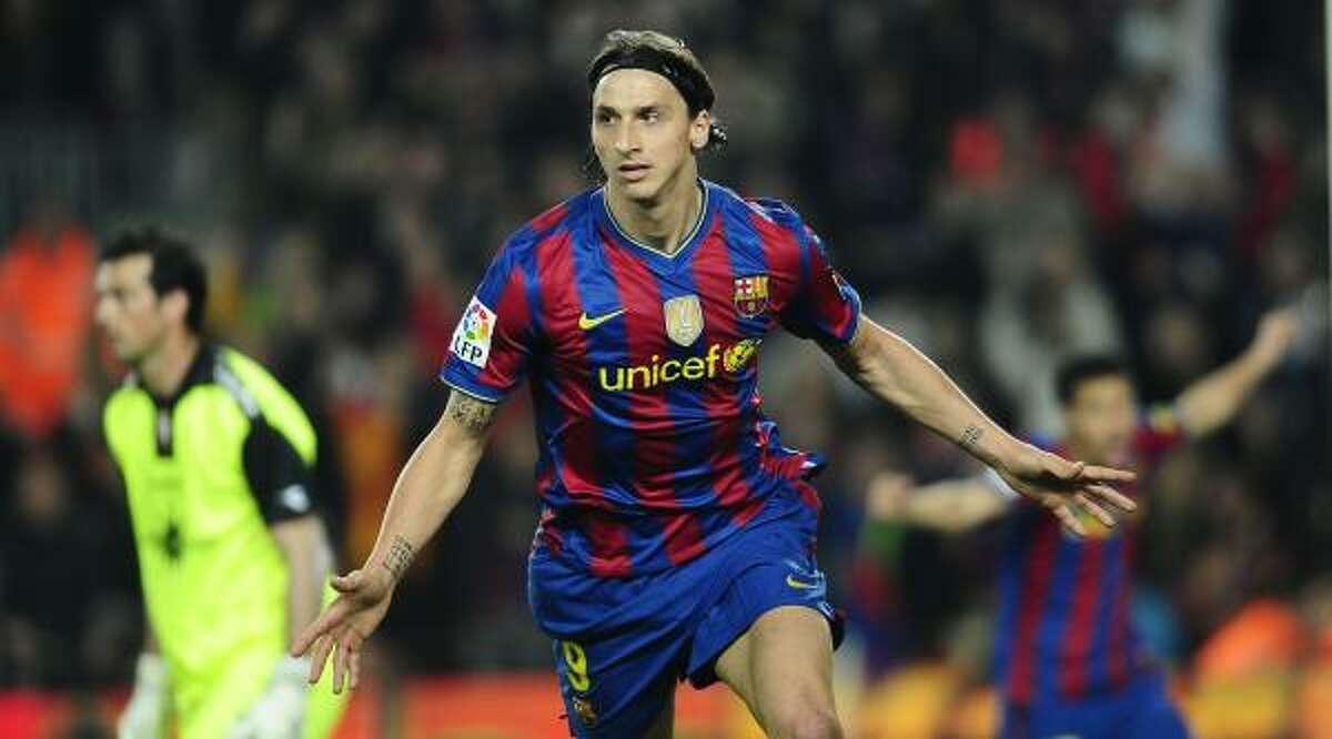 No. 9 - Zlatan Ibrahimovic, Barcelona $16 million The big Swedish forward is a formidable goal scorer.