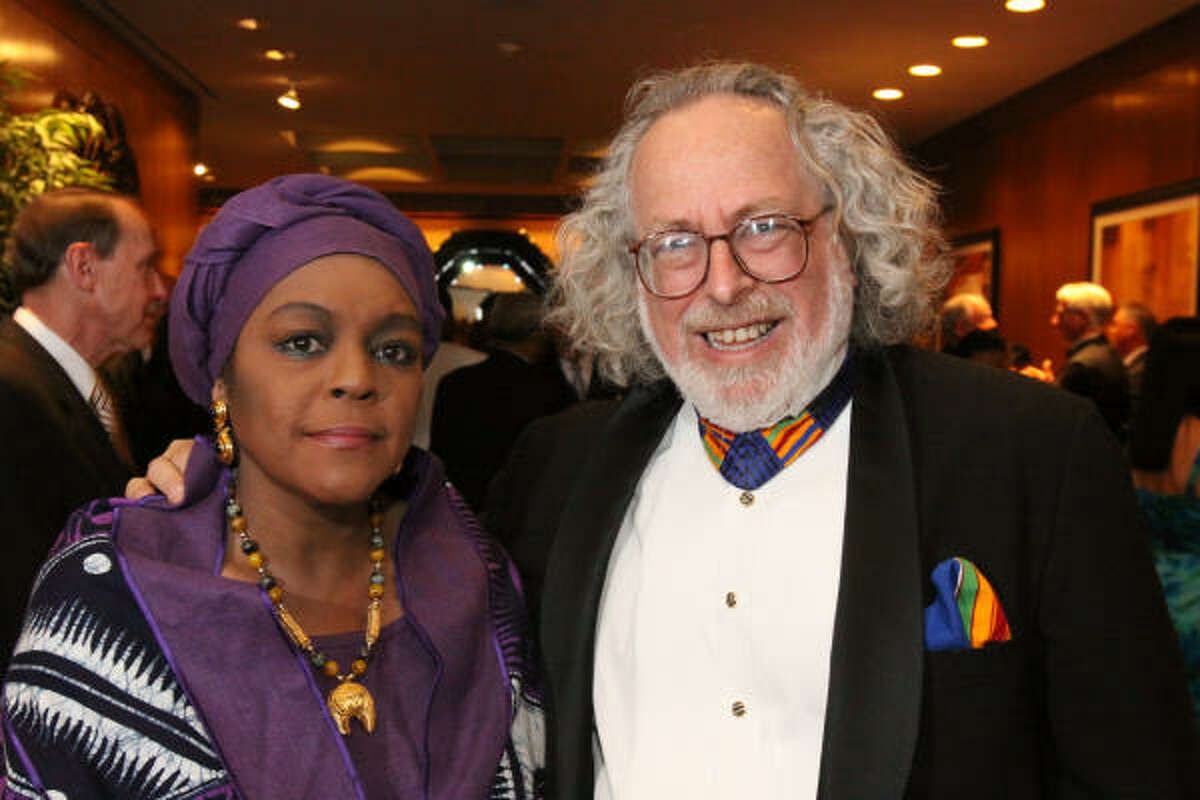 Marlene McClinton and Richard Kaplan at the Houston International Festival Mayor's Gala.