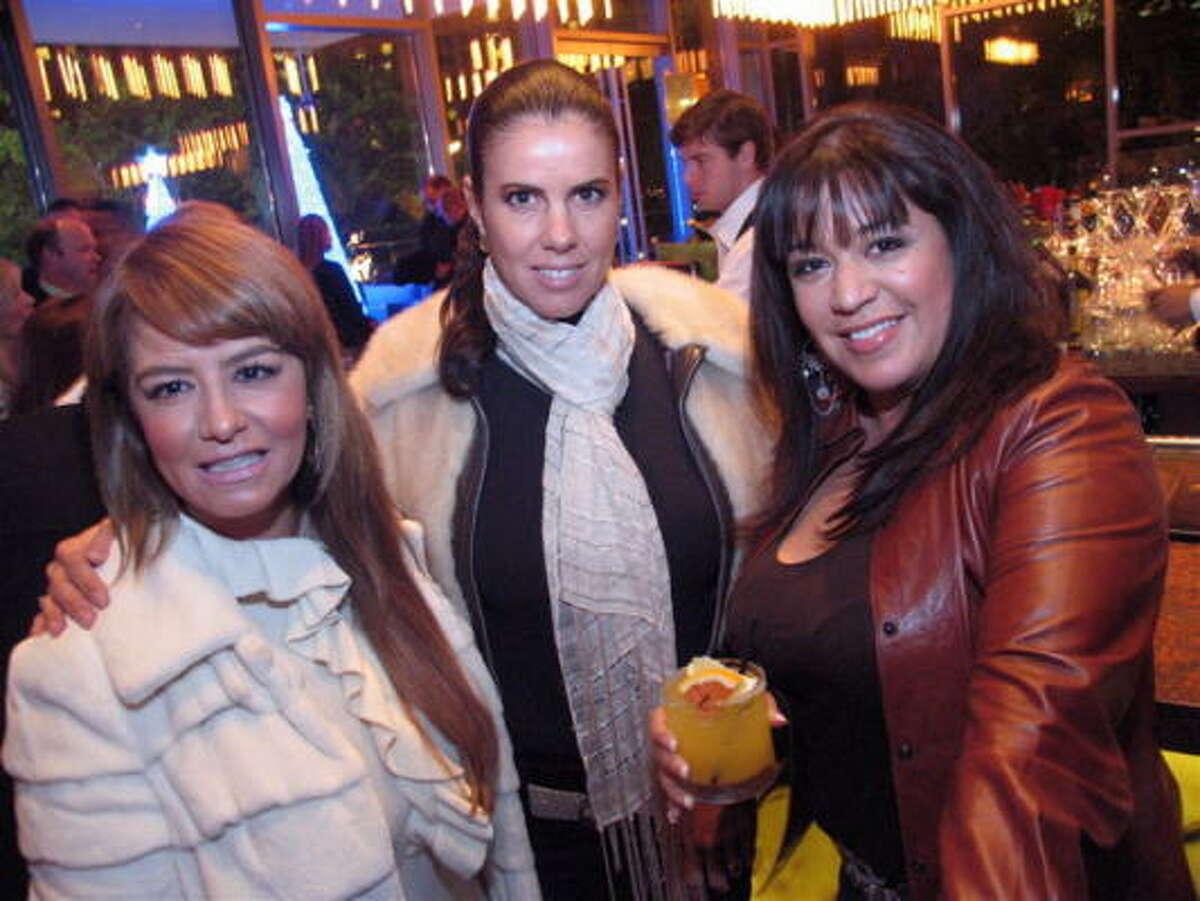Irma Brindis, from left, Cynthia Navarro and Adora Galas