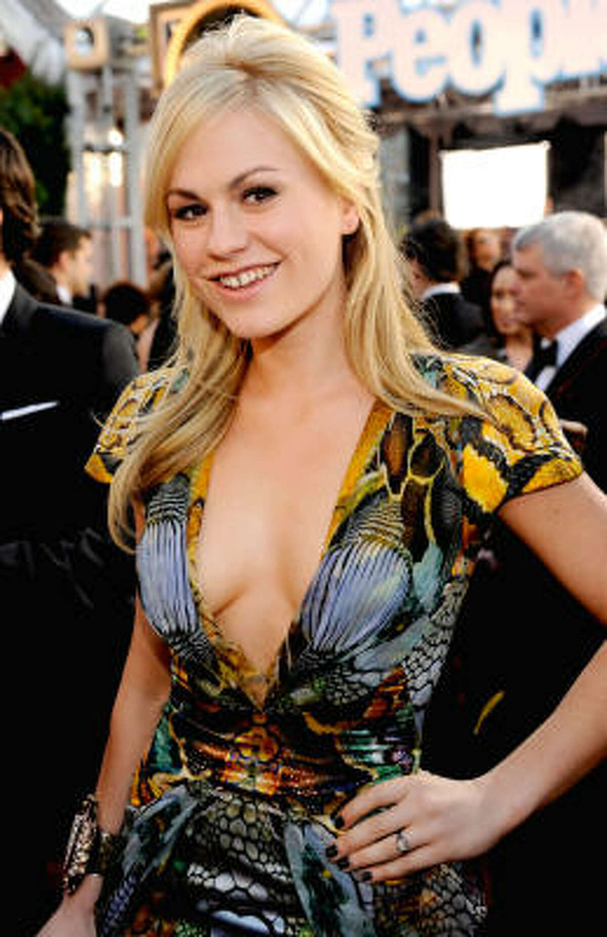 Anna Paquin, the True Blood star, bucked the Hollywood trend and kept her smile.