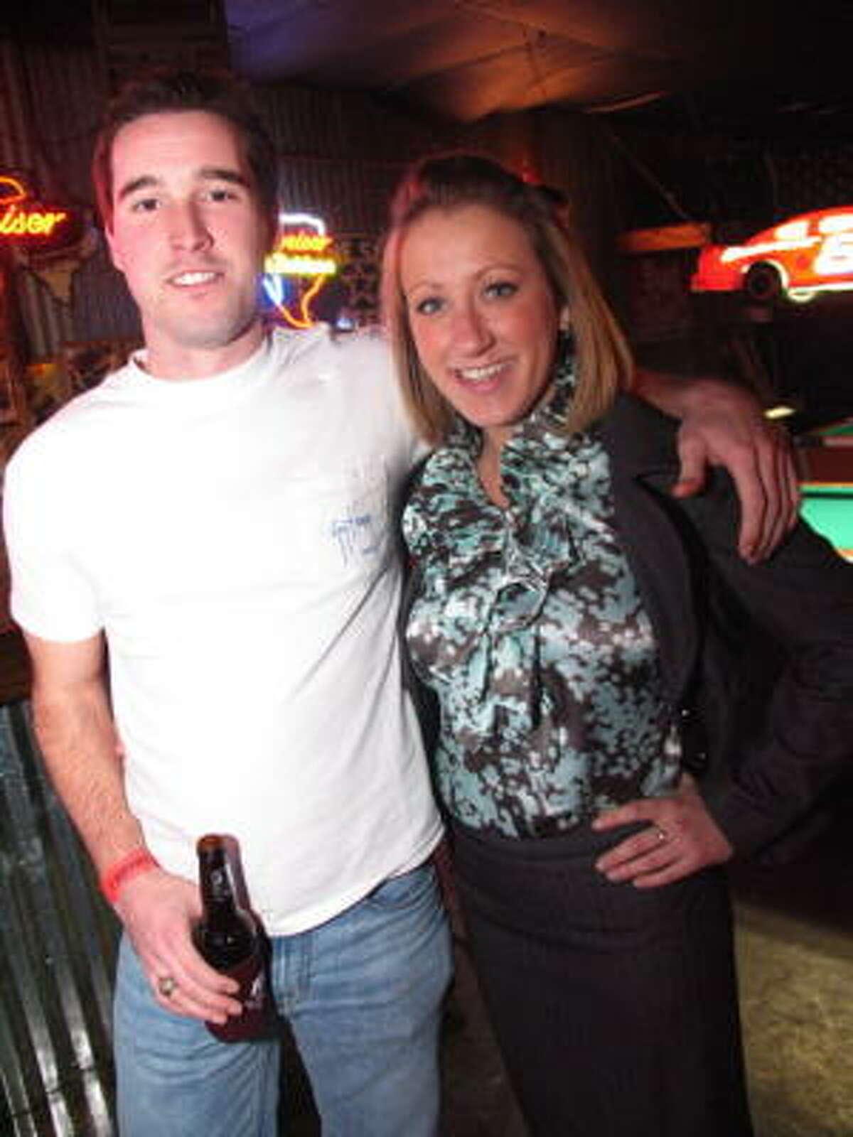 Bryan Brown, left, and Erin Kassab