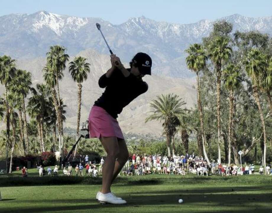 Lorena Ochoa's last tournament was the LPGA Kraft Nabisco Championship in Rancho Mirage, Calif., from April 1-4. She finished fourth. Photo: Chris Carlson, AP