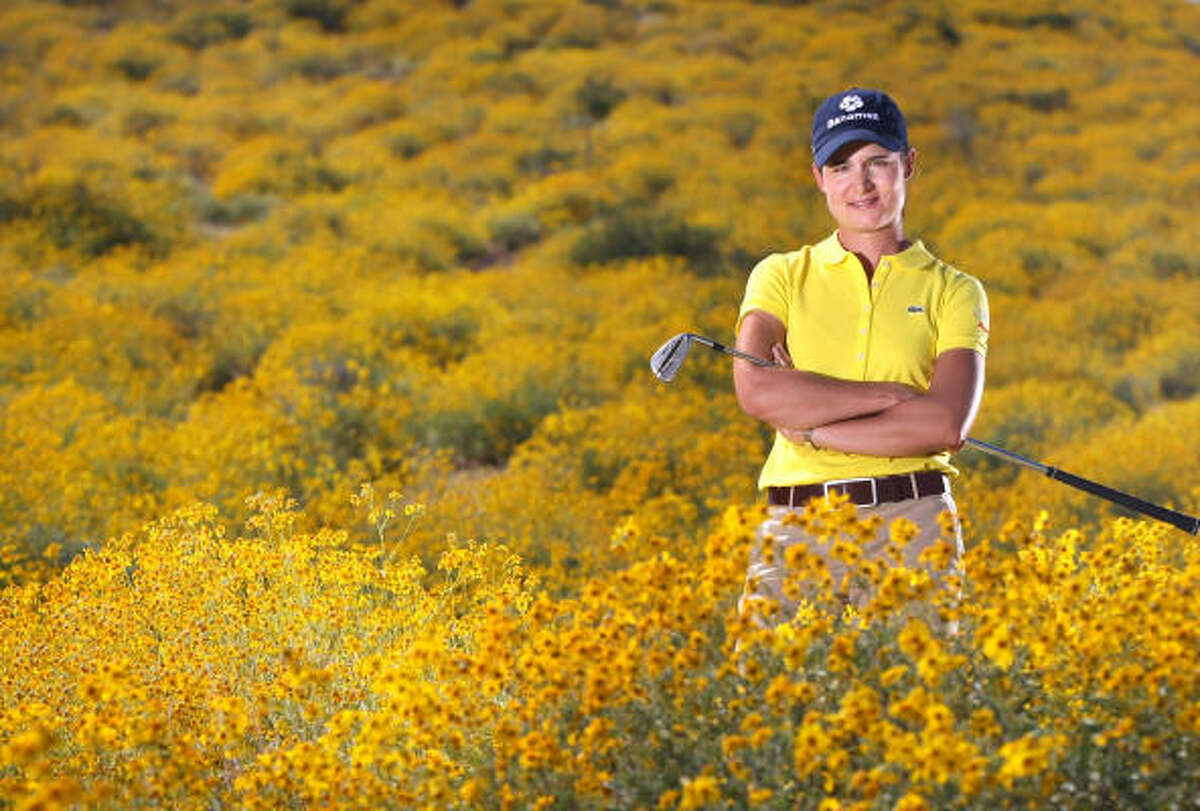 Lorena Ochoa is seen at the LPGA Safeway International at the Superstition Mountain Golf and Country Club on March 25, 2008 in Superstition Mountain, Arizona. She won 27 titles in 179 events during her career.