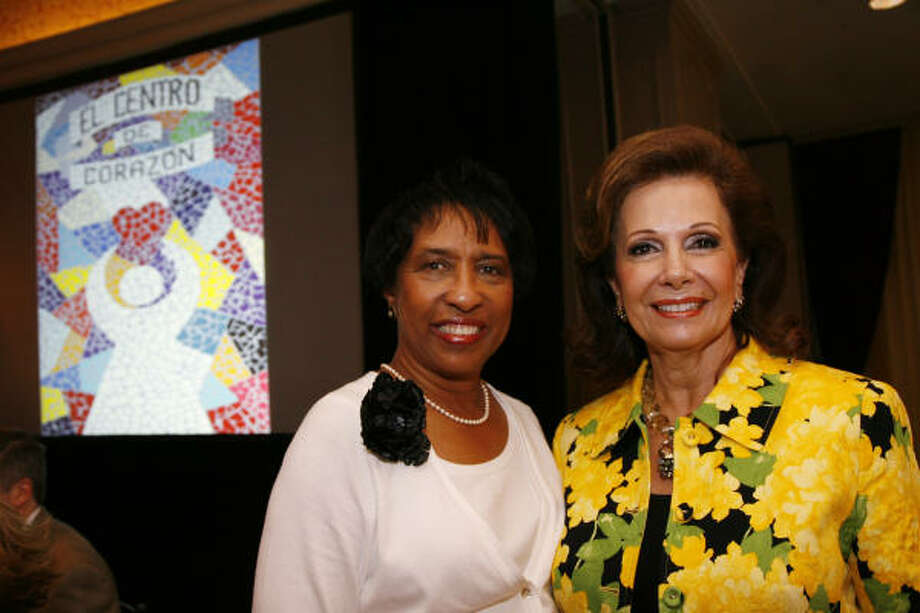 Sharon Owens and Philamena Baird at the Making A Difference luncheon benefiting El Centro de Corazon at the Hotel ZaZa. Photo: Mayra Beltran, Chronicle