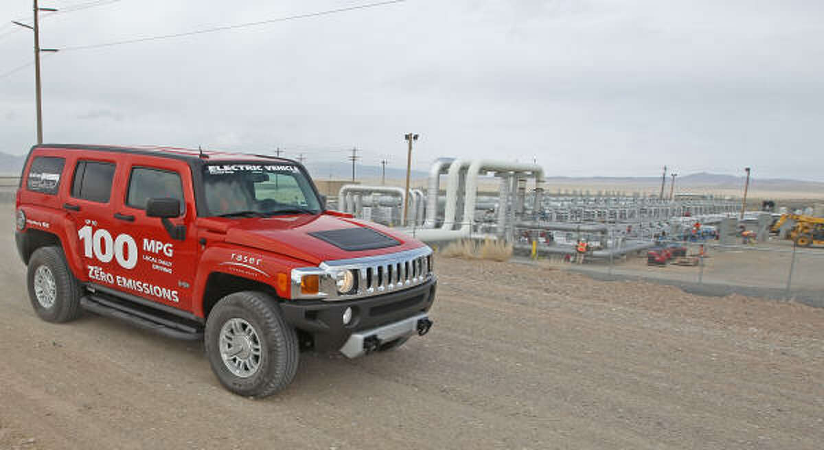 The Raser hybrid H3 Hummer gets 100 mpg and is said to out-green the Prius.