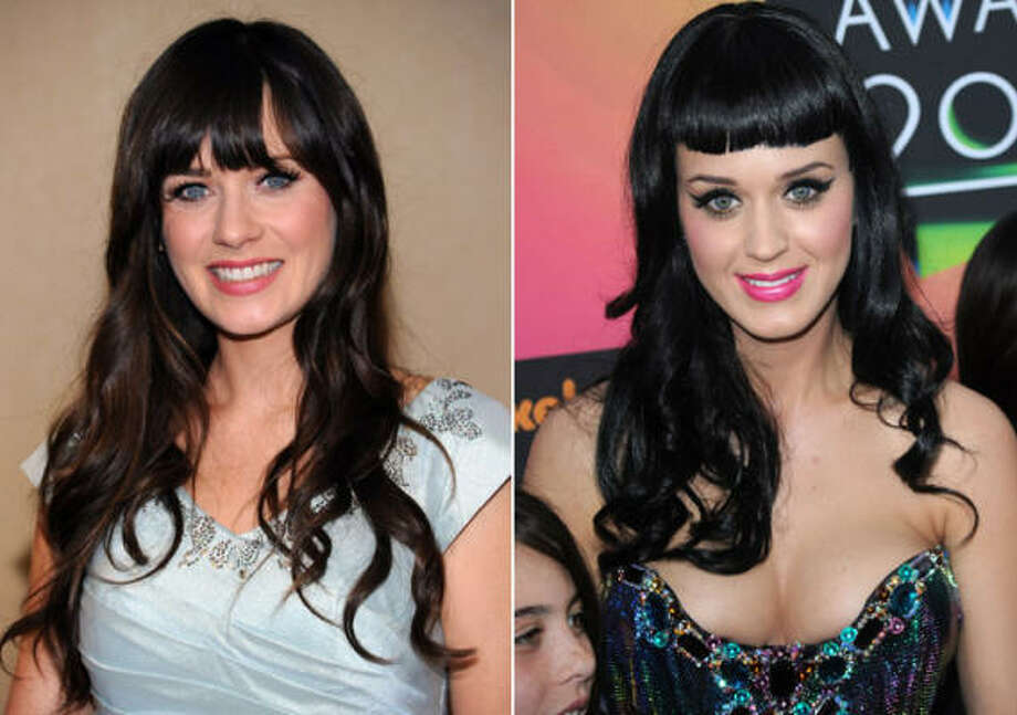 Zooey DeSchanel and Katy Perry look like they could be sisters. Photo: Getty