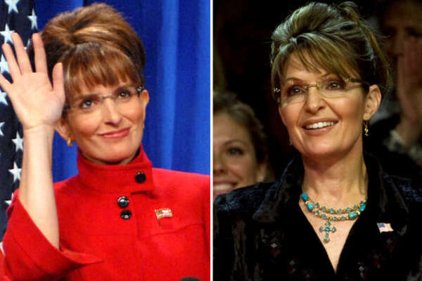 It's well-known that  30 Rock 's  Tina Fey , left, looks like politician  Sarah Palin .