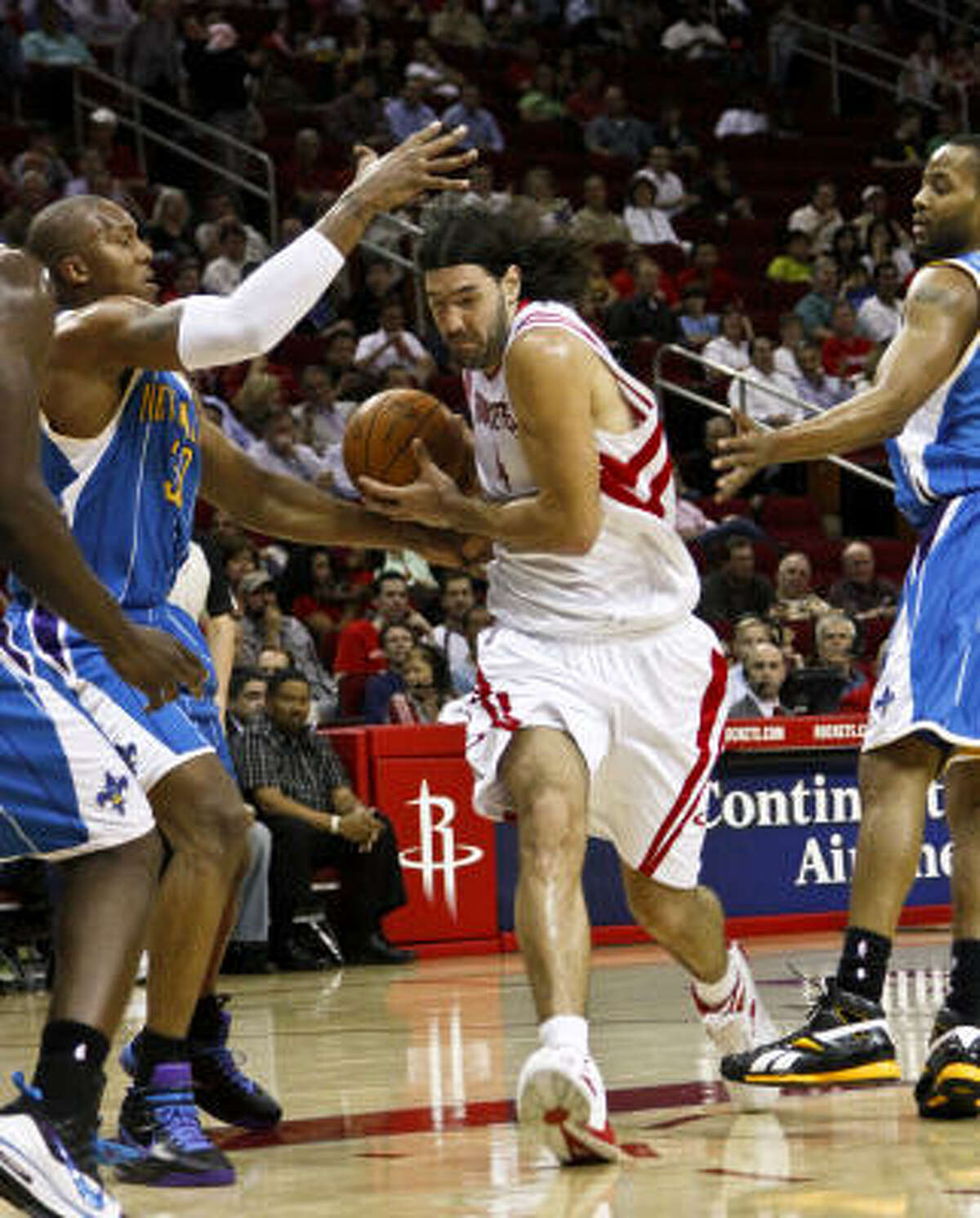 Rockets forward Luis Scola finished the season with career-highs in points (16.2) and minutes (32.5) per game.