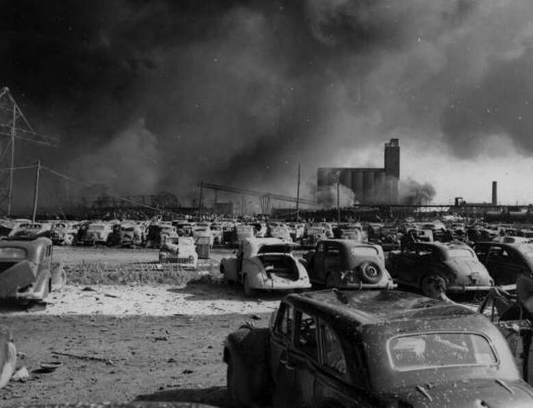 Aftermath following April 16, 1947, blast at Texas City.  According to the Handbook of Texas the dis