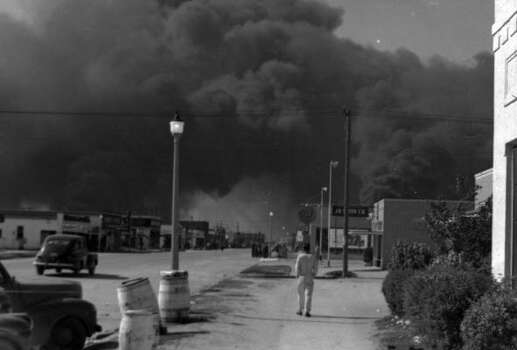 April 16, 1947: Texas City street.Read more: Newly discovered photos show extent of destruction Photo: Story Sloane Jr.