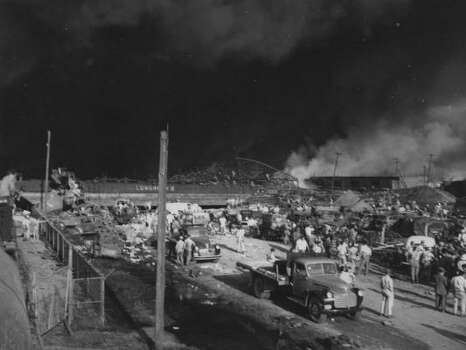 April 16, 1947: Aftermath of Texas City explosion.Read more: Newly discovered photos show extent of destruction Photo: Story Sloane Jr.