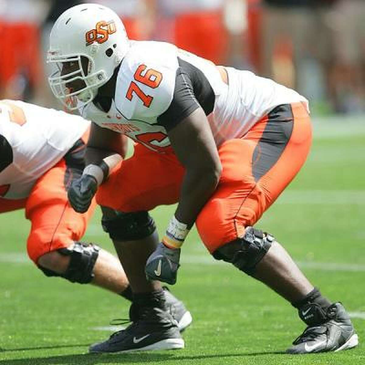 Detroit Lions Oklahoma State offensive tackle Russell Okung