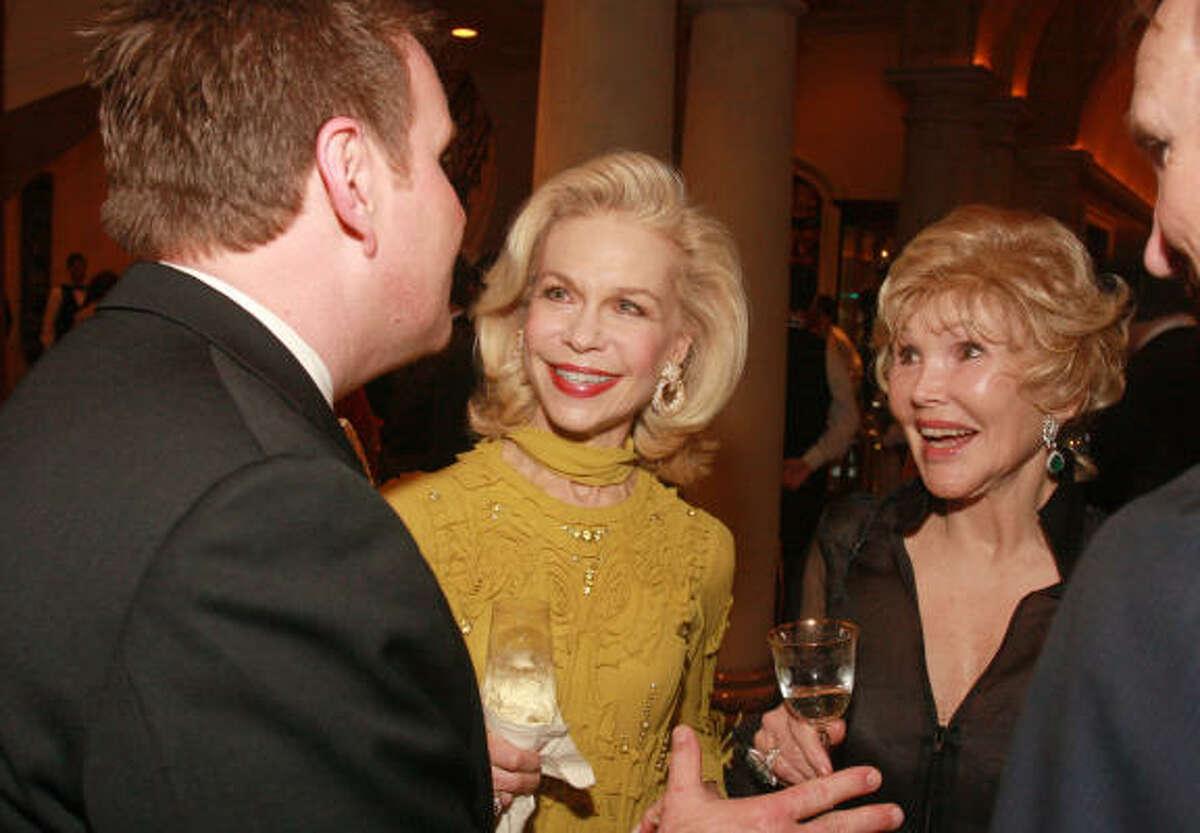 Bradford Wyatt, from left, Lynn Wyatt and Joanne King Herring