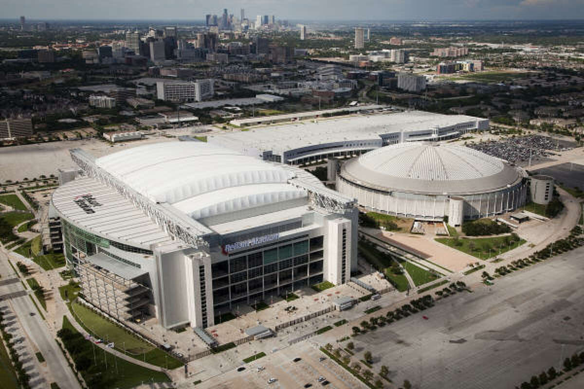 The Texans have played at Reliant Stadium, left, since 2002.