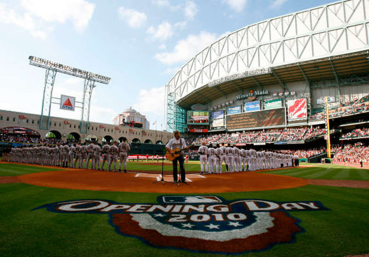 The Astros just celebrated their 11th Opening Day at Minute Maid Park, which opened in 2000.