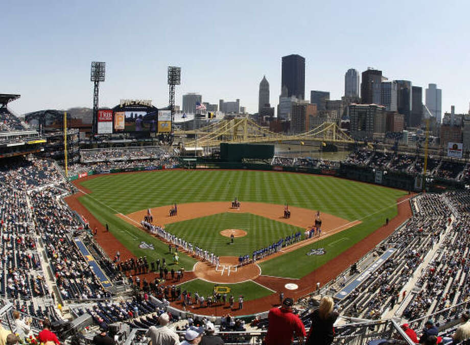 PNC Park, which has one of the best views in baseball, opened in 2001. Photo: Gregory Shamus, Getty Images