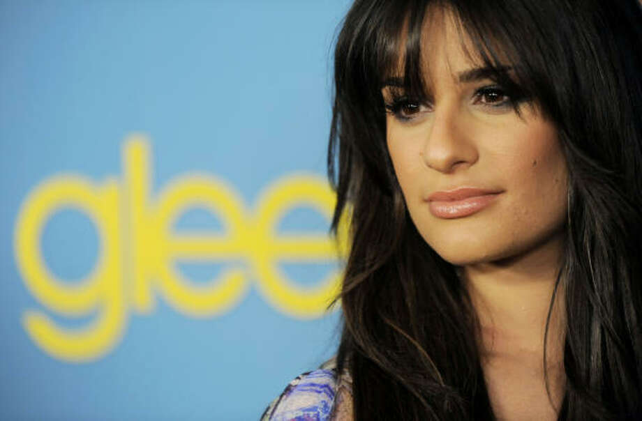 "Lea Michele, a cast member in the television series ""Glee,"" poses at Fox's party. ""I presume the story will follow a similar emotional arc on the road to Regionals and I'm looking forward to that exciting crescendo toward the end of the season,"" Bobby Hankinson writes in the Tubular blog. Photo: Chris Pizzello, AP"