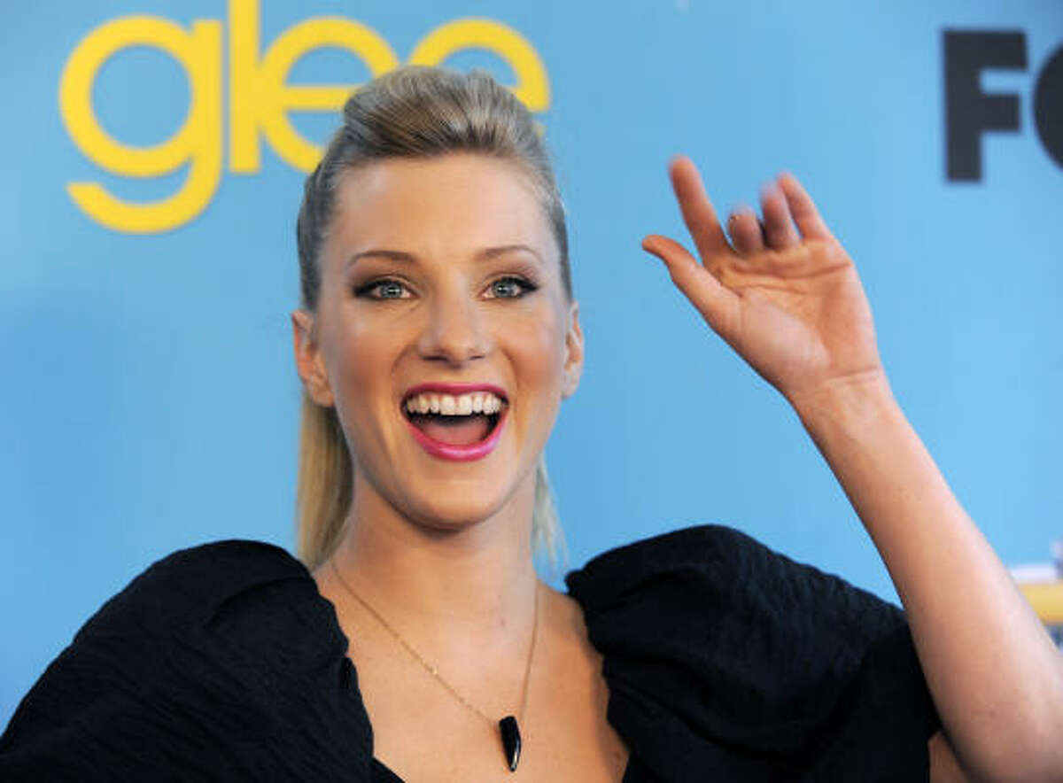 Cast member Heather Morris waves to the crowd.