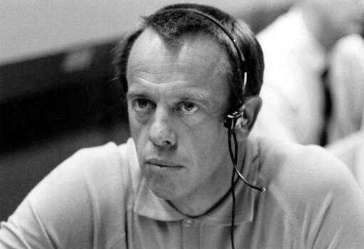 Astronaut Alan Shepard Jr. monitored communications between the Apollo 13 spacecraft and Mission Control Center in this April 14, 1970 file photo at Manned Spacecraft Center in Houston. Photo: AP