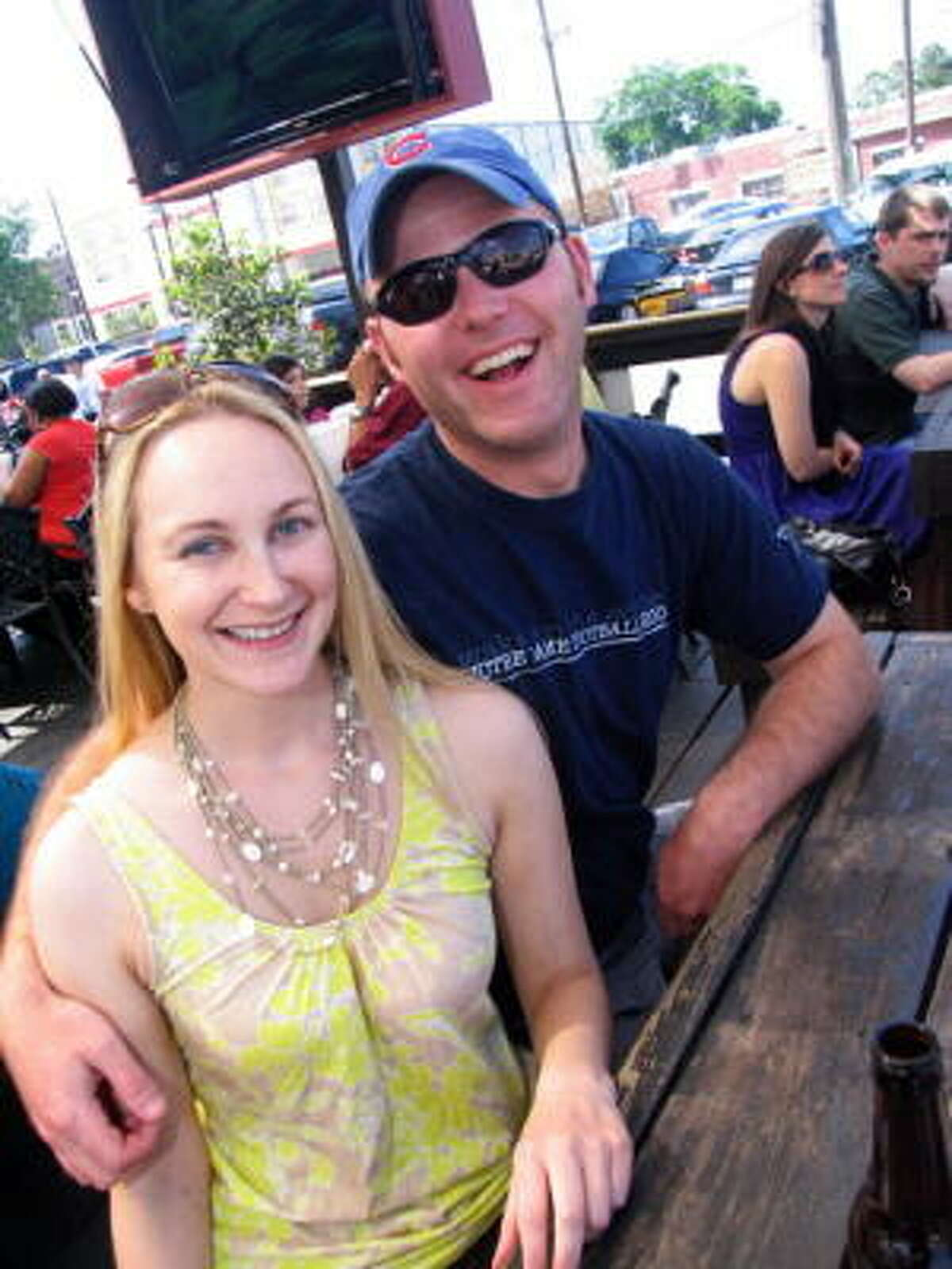 Jennifer Lean, left, and Tim McMahon