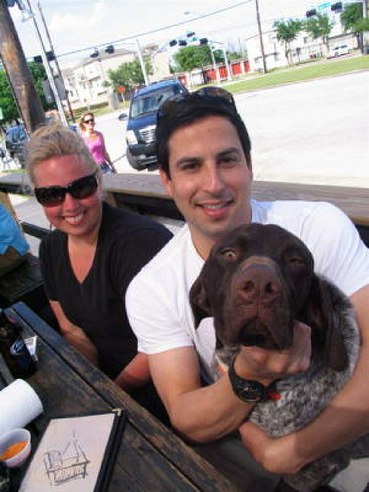 Michele Meeche with James Hernandez and Dutch.