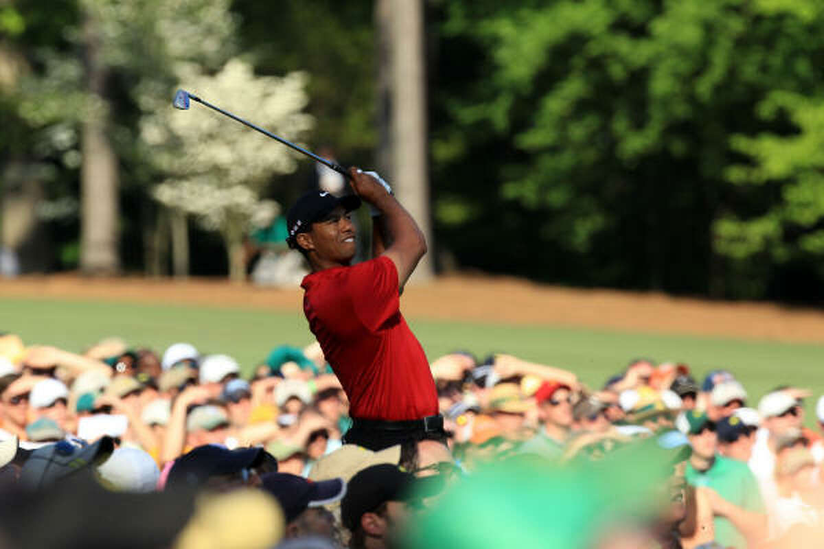 Tiger Woods finished the 2010 Masters tied for fourth at 11-under-par 68-70-70-69 - 277.