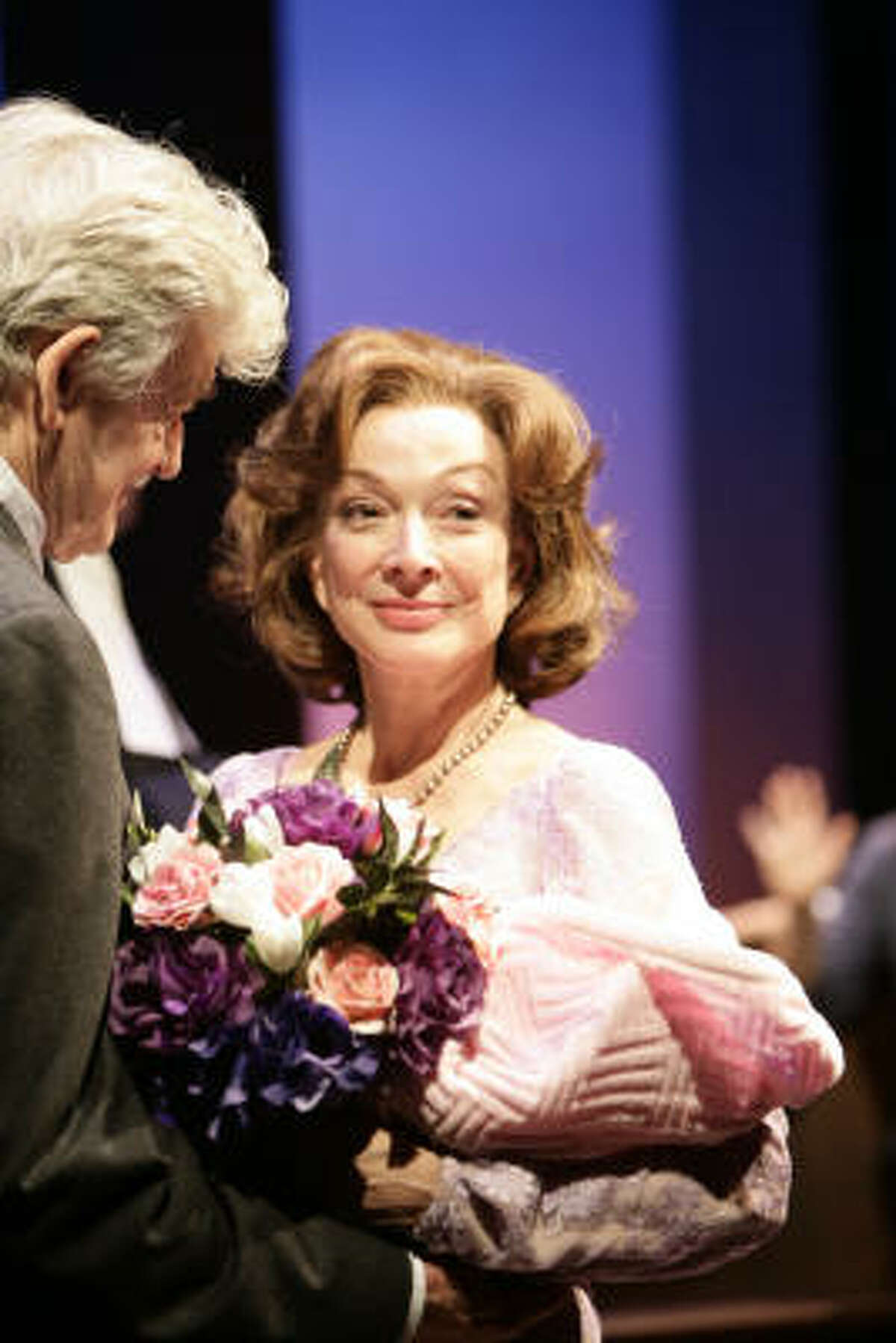 Hal Holbrook as John Campbell and Dixie Carter as Maud Kinch starred in the Alley Theatre's world premiere production of Ken Ludwig's Be My Baby.