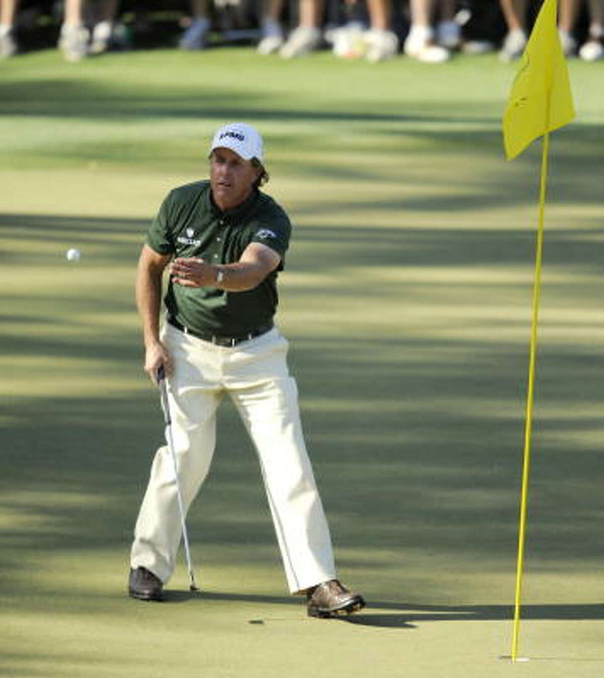 Phil Mickelson enters the final round one shot behind leader Lee Westwood.