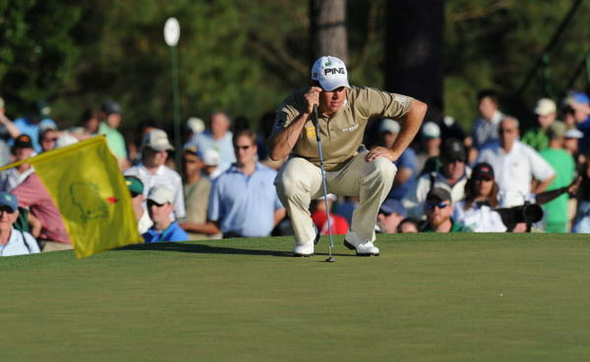Englishman Lee Westwood leads the field going into Sunday's final round.