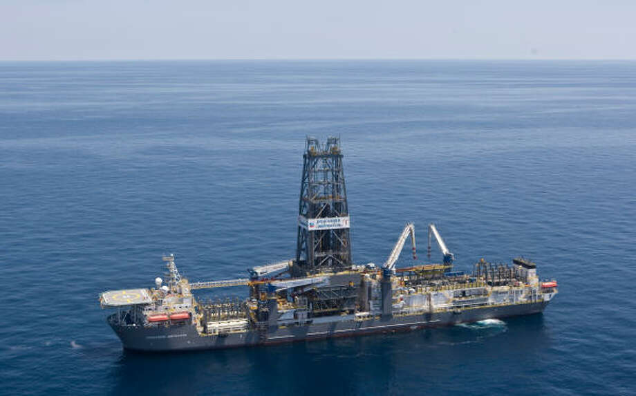 Chevron is drilling an exploration well into Moccasin Prospect on Transocean's Discoverer Inspiration, an ultra-deepwater vessel with the capability to drill wells in 12,000 feet of water to a total depth of 40,000 feet. Photo: Melissa Phillip, Chronicle
