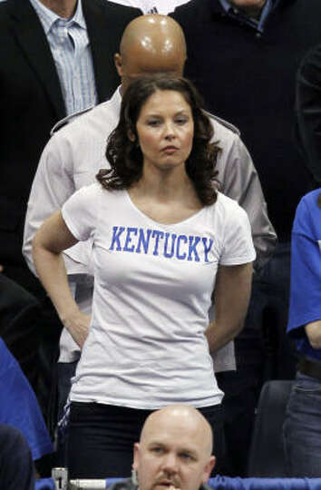 Kentucky Fan And Actress Ashley Judd Watches Her Team Play