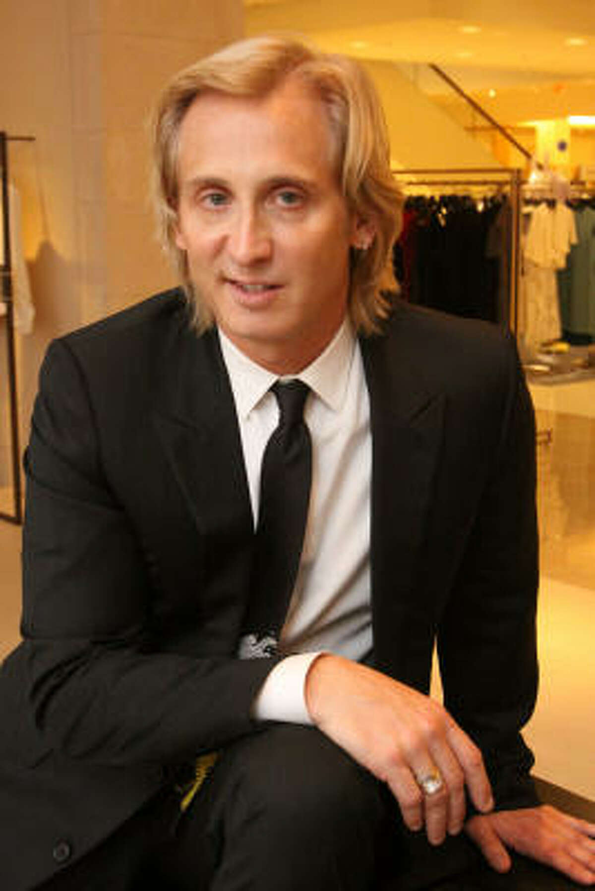 Fashion designer David Meister came to Neiman Marcus for a fashion show and cocktail party.
