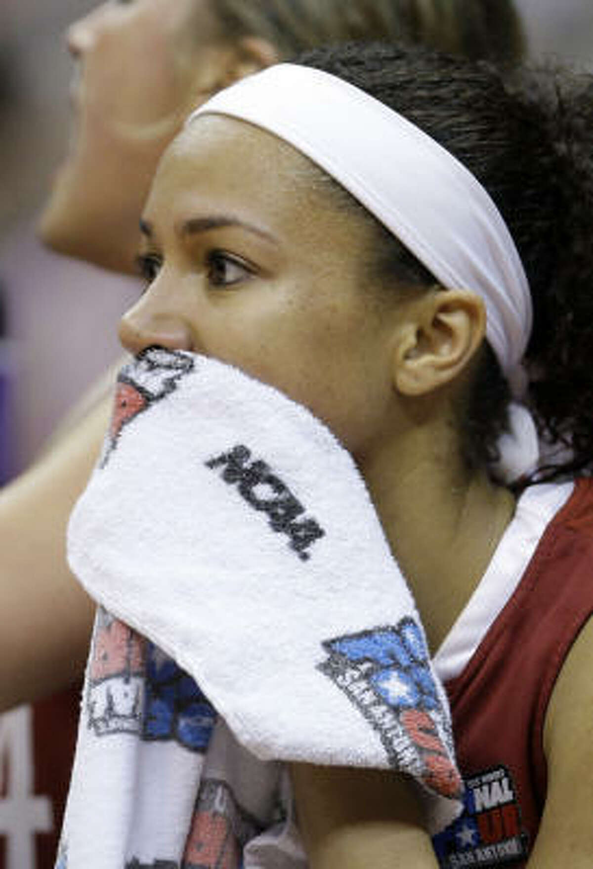 Stanford's Rosalyn Gold-Onwude looks on in the second half.