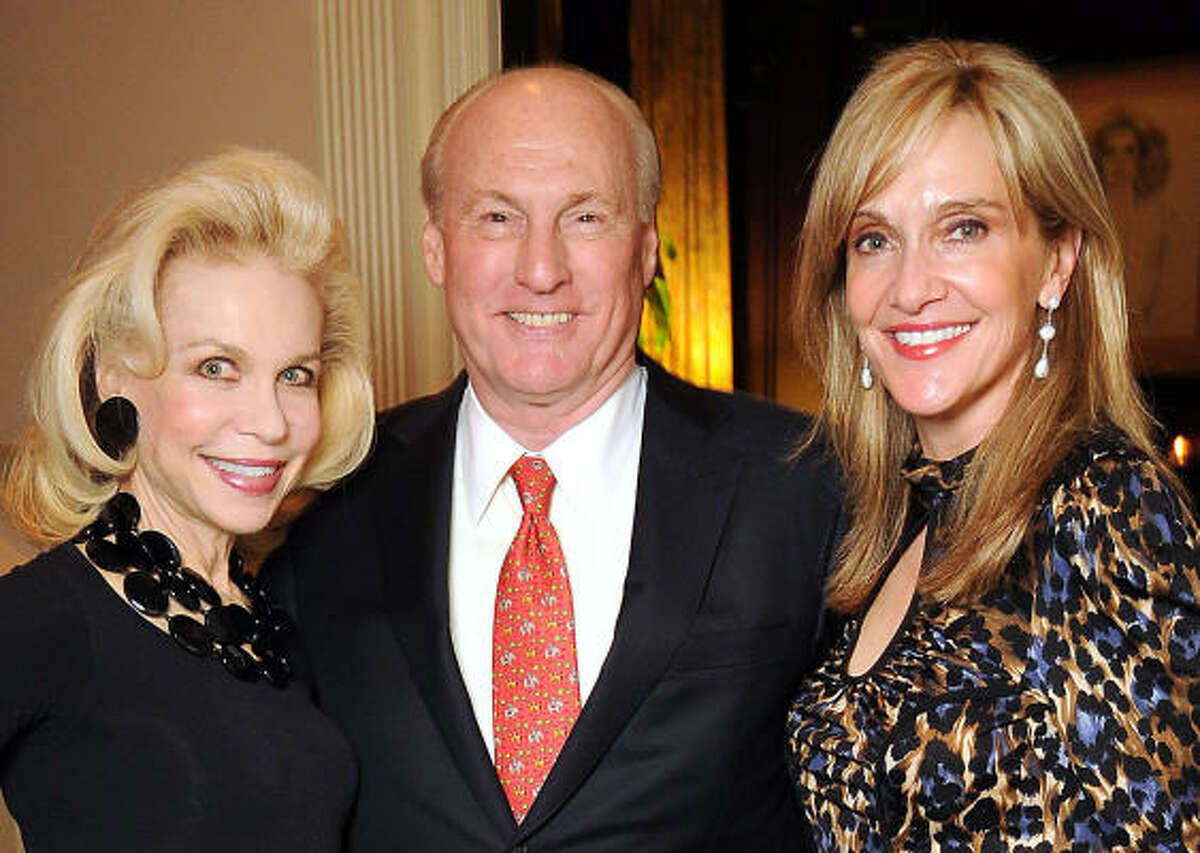 From left: Lynn Wyatt with Scotty and Jana Arnoldy at a party at Wyatt's home following a Louis Vuitton reception in her honor.