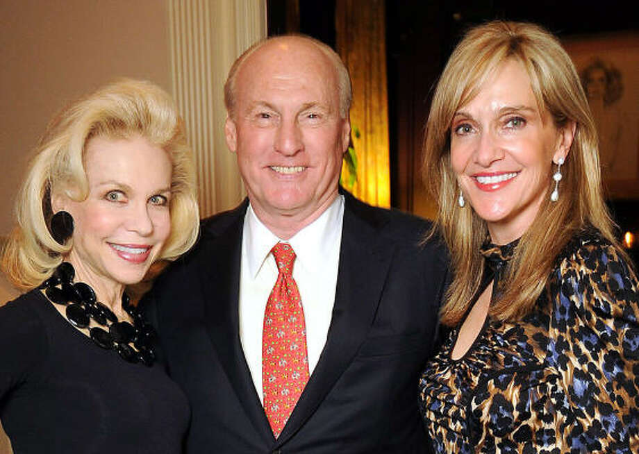 From left: Lynn Wyatt with Scotty and Jana Arnoldy at a party at Wyatt's home following a Louis Vuitton reception in her honor. MCP_PLUCK=0 Photo: Dave Rossman, For The Chronicle