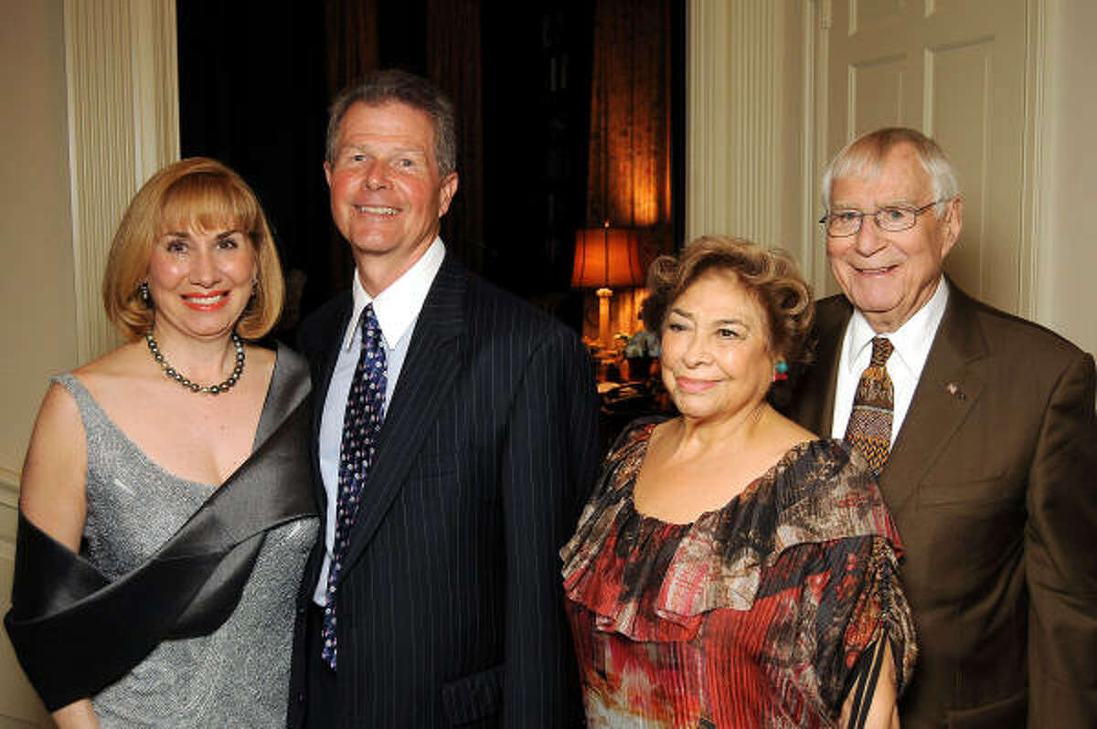 From left: Denise Bush Bahr and Philip Bahr with Olga and Gerald Bush