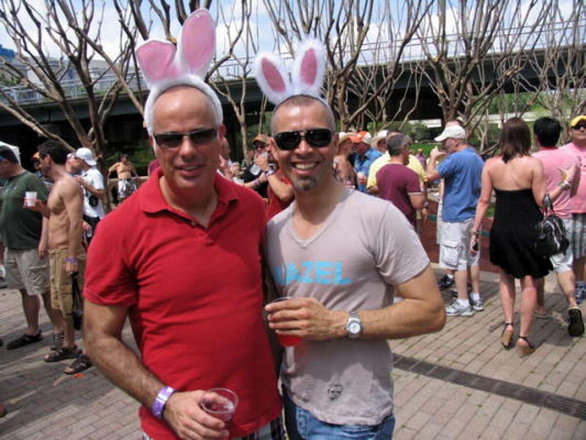 Robert Clement, left, and Ray Tirado