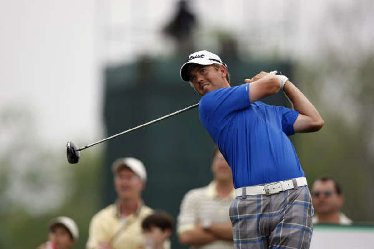 Bryce Molder ended Friday's second round in the lead at 9-under par 135, one shot ahead of PGA Tour rookie Alex Prugh.