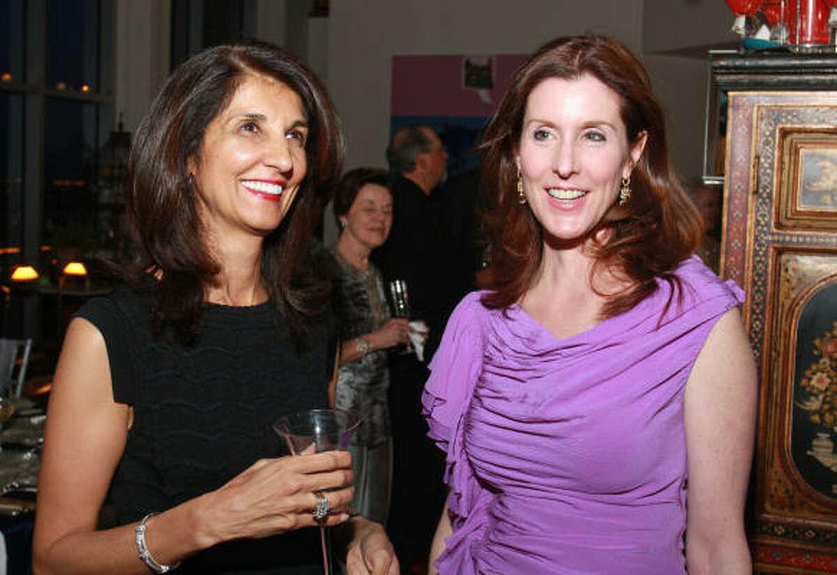 Sultana Mangalji, left, with Phoebe Tudor