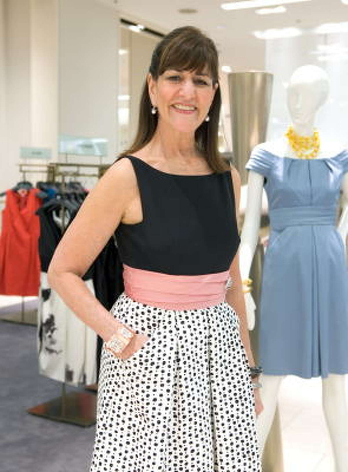Fashion designer Kay Unger in one of her own creations. Her Phoebe Couture line is a favorite among Gossip Girl and Ugly Betty castmates.