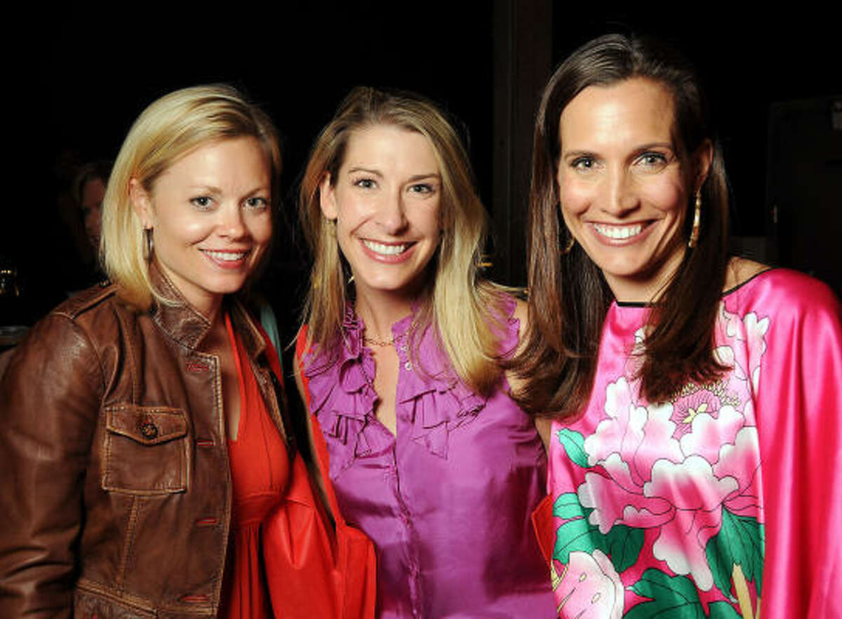 From left: Brook Rives, Emily Rommel and Kate Swail at the Girls and Guys Night Out benefiting Bo's Place at Warehouse Live.
