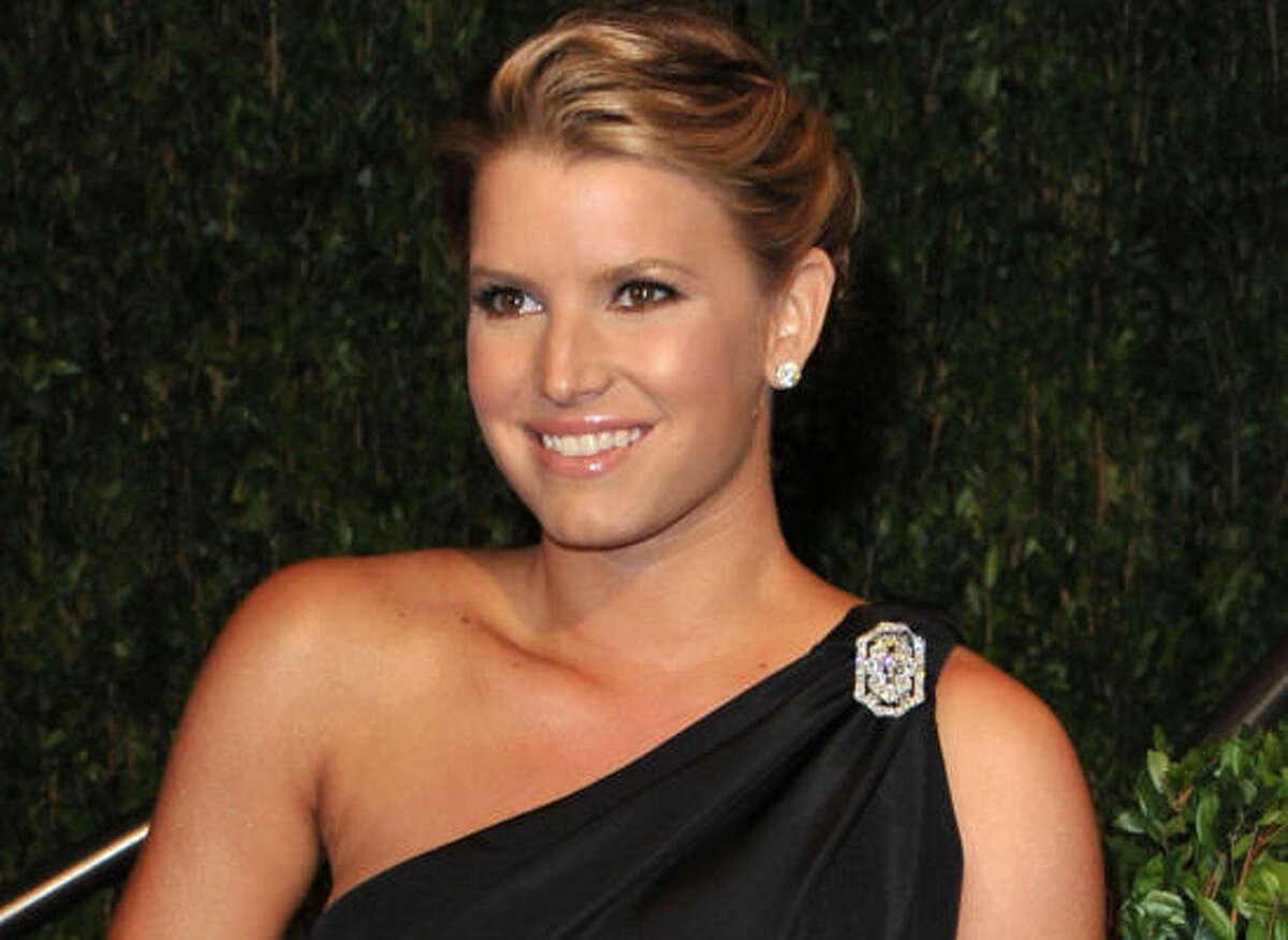 The red carpet is great inspiration for prom attire. This season black is back, as well as one-shoulder gowns and dresses with pockets, like Jessica Simpson's shown here.