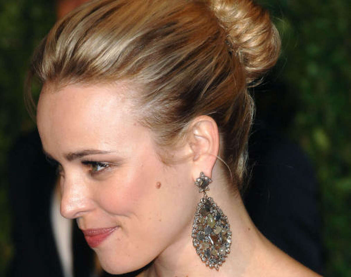 Hairstyles at prom can be as important as picking a dress. There's loads of options from up-dos to long and flowing. If you're still in need of a muse, here's some inspiration from this year's red carpet. Pictured: Rachel McAdams with a simple bun.