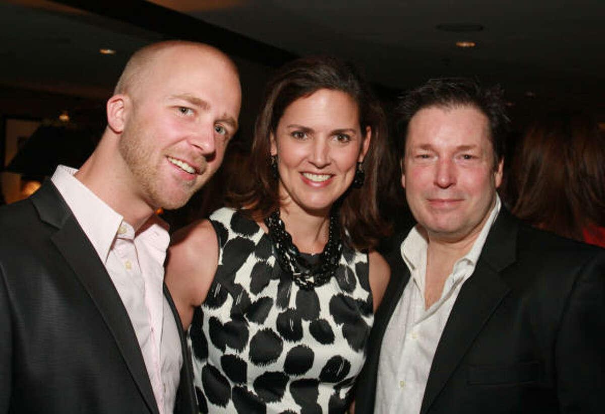 Michael Stribling, from left, Rebecca Matthews and Scott Evans