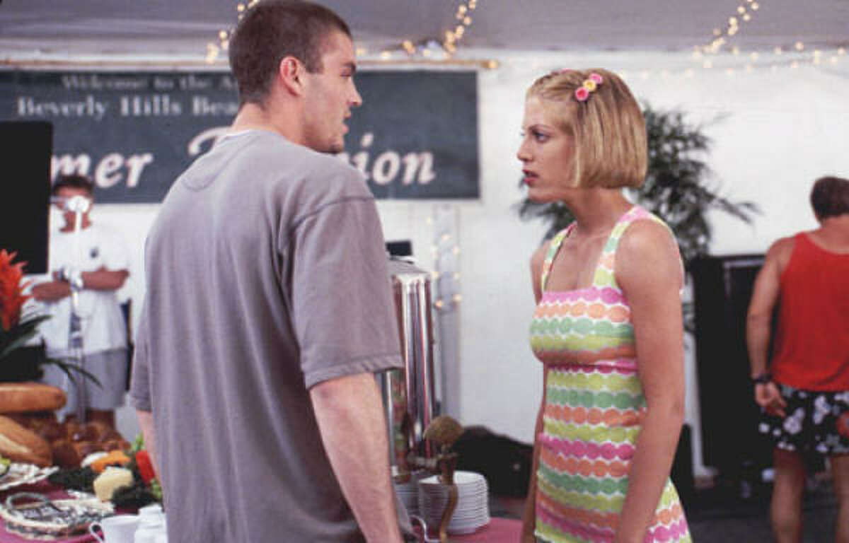 She started out as the geeky girl dating Brian Austin Green's character that wasn't as cute at the other girls on the show.