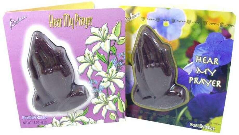 Milk chocolate hands: a reminder of prayer's sweet rewards. Photo: Blair Candy