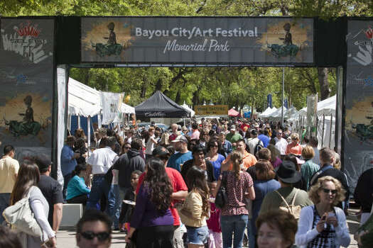 Bayou City Arts FestivalFriday-Sunday, March 27-29More than 400 artists from 19 different mediums will put their work on display at this non-profit event. There will also be food, music and crafts.When: noon-6 p.m. Friday, 10 a.m.-6 p.m. Saturday and SundayWhere: Memorial ParkTickets: $10 early birdInformation: artcolonyassociation.org Photo: Eric Kayne, For The Chronicle