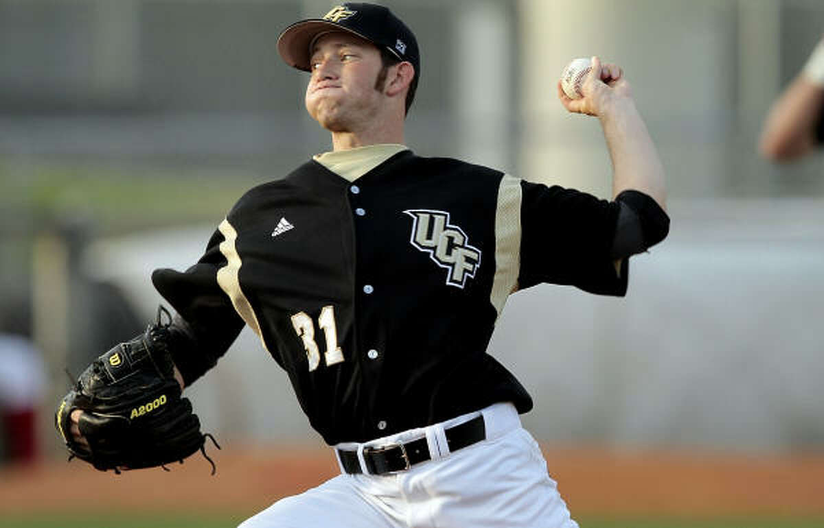 Central Florida pitcher Johnny Sedlock fell to 1-2 after allowing three runs in three innings.